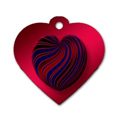 Heart Love Luck Abstract Dog Tag Heart (two Sides)