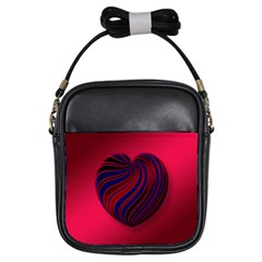 Heart Love Luck Abstract Girls Sling Bags