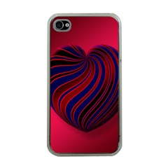 Heart Love Luck Abstract Apple Iphone 4 Case (clear)