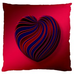 Heart Love Luck Abstract Large Cushion Case (two Sides)