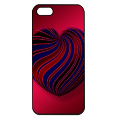 Heart Love Luck Abstract Apple Iphone 5 Seamless Case (black)