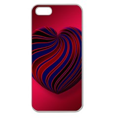 Heart Love Luck Abstract Apple Seamless Iphone 5 Case (clear)