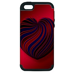 Heart Love Luck Abstract Apple Iphone 5 Hardshell Case (pc+silicone)