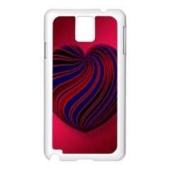 Heart Love Luck Abstract Samsung Galaxy Note 3 N9005 Case (white)
