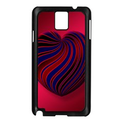 Heart Love Luck Abstract Samsung Galaxy Note 3 N9005 Case (black)
