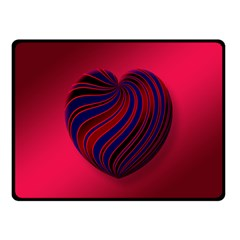 Heart Love Luck Abstract Double Sided Fleece Blanket (small)