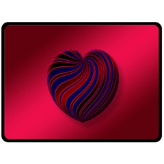 Heart Love Luck Abstract Double Sided Fleece Blanket (large)