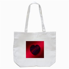 Heart Love Luck Abstract Tote Bag (white)