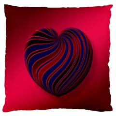 Heart Love Luck Abstract Large Flano Cushion Case (two Sides)