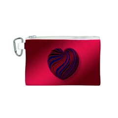 Heart Love Luck Abstract Canvas Cosmetic Bag (s)