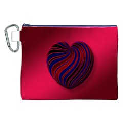 Heart Love Luck Abstract Canvas Cosmetic Bag (xxl)