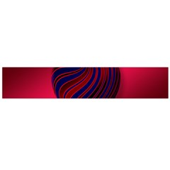Heart Love Luck Abstract Large Flano Scarf
