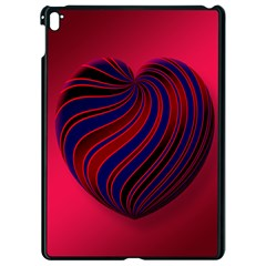 Heart Love Luck Abstract Apple Ipad Pro 9 7   Black Seamless Case