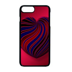 Heart Love Luck Abstract Apple Iphone 8 Plus Seamless Case (black)