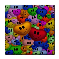 Heart Love Smile Smilie Tile Coasters