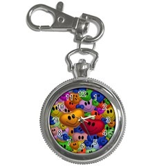 Heart Love Smile Smilie Key Chain Watches