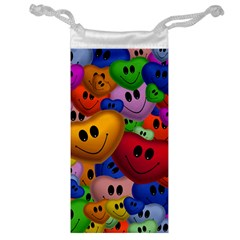 Heart Love Smile Smilie Jewelry Bag