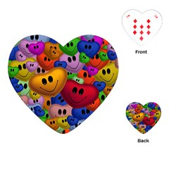 Heart Love Smile Smilie Playing Cards (heart)
