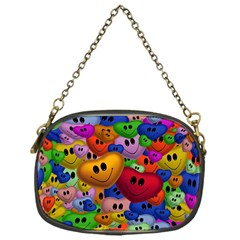 Heart Love Smile Smilie Chain Purses (one Side)