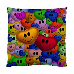 Heart Love Smile Smilie Standard Cushion Case (one Side)