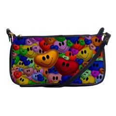 Heart Love Smile Smilie Shoulder Clutch Bags