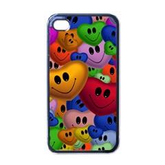 Heart Love Smile Smilie Apple Iphone 4 Case (black)
