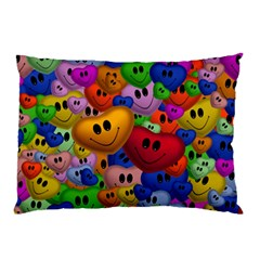 Heart Love Smile Smilie Pillow Case (two Sides)