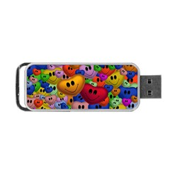 Heart Love Smile Smilie Portable Usb Flash (one Side)