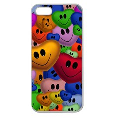 Heart Love Smile Smilie Apple Seamless Iphone 5 Case (clear)