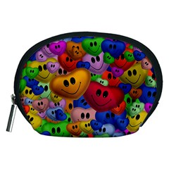 Heart Love Smile Smilie Accessory Pouches (medium)