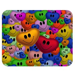 Heart Love Smile Smilie Double Sided Flano Blanket (medium)