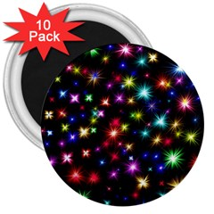 Fireworks Rocket New Year S Day 3  Magnets (10 Pack)