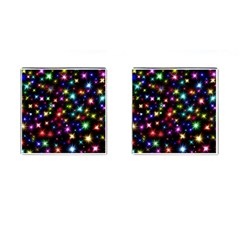 Fireworks Rocket New Year S Day Cufflinks (square)