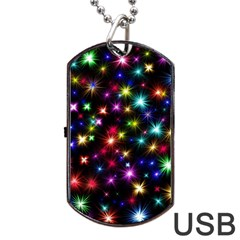 Fireworks Rocket New Year S Day Dog Tag Usb Flash (one Side)