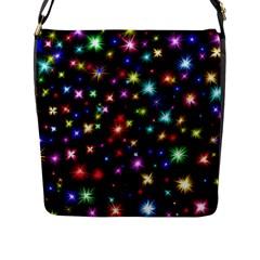 Fireworks Rocket New Year S Day Flap Messenger Bag (l)