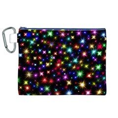 Fireworks Rocket New Year S Day Canvas Cosmetic Bag (xl)