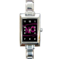 No Cancellation Rejection Rectangle Italian Charm Watch