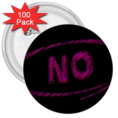 No Cancellation Rejection 3  Buttons (100 Pack)