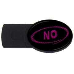 No Cancellation Rejection Usb Flash Drive Oval (2 Gb)