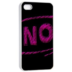 No Cancellation Rejection Apple Iphone 4/4s Seamless Case (white)