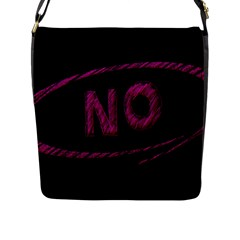 No Cancellation Rejection Flap Messenger Bag (l)
