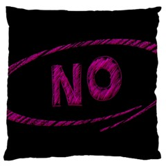 No Cancellation Rejection Large Flano Cushion Case (two Sides)