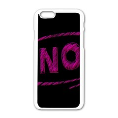 No Cancellation Rejection Apple Iphone 6/6s White Enamel Case