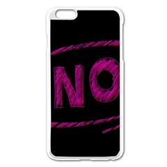 No Cancellation Rejection Apple Iphone 6 Plus/6s Plus Enamel White Case