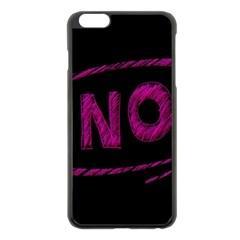 No Cancellation Rejection Apple Iphone 6 Plus/6s Plus Black Enamel Case