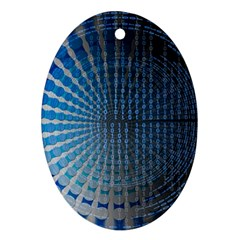 Data Computer Internet Online Oval Ornament (two Sides)