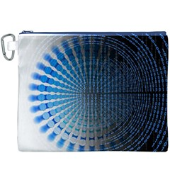 Data Computer Internet Online Canvas Cosmetic Bag (xxxl)