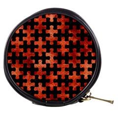 Puzzle1 Black Marble & Copper Paint Mini Makeup Bags