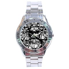 Neurons Brain Cells Brain Structure Stainless Steel Analogue Watch