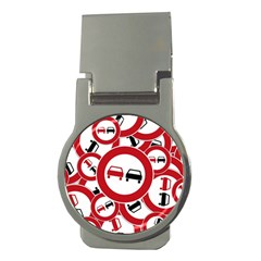 Overtaking Traffic Sign Money Clips (round)